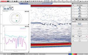 ecossonda para estudos hidrográficos