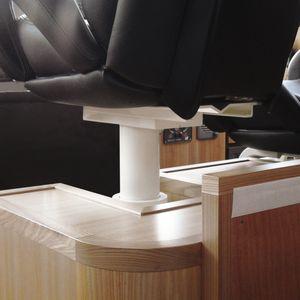 base para assento de piloto para barco / ajustável / elétrica / metálica