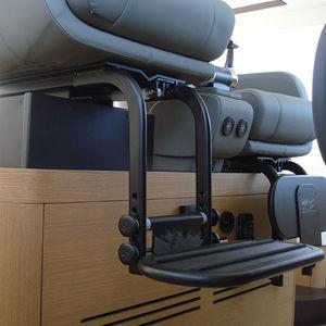base para assento de piloto para barco / ajustável / elétrica / em alumínio