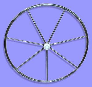 roda de leme para veleiro / em aço inox / com revestimento de couro