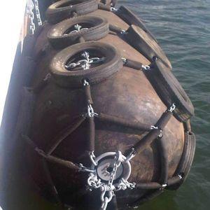 defensa de navio / portuária / para cais / pneumática