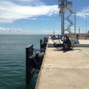 defensa para porto / para cais / cônica