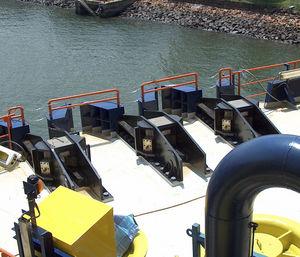 bloqueador de corrente para navio