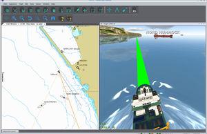 software de navegação 3D / para navio