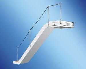 escada para barco / lateral / de embarque / em teca