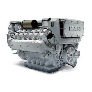 motor a diesel para navio / a turbo / de injeção direta / common-rail