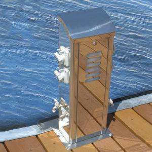 poste balizador / de distribuição elétrica / de distribuição de água / para píer