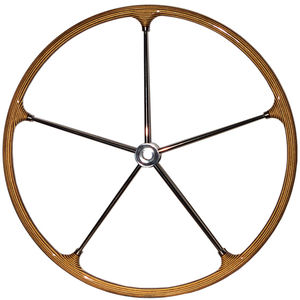 roda de leme para veleiro / em teca / em fibra de vidro / em aço inox