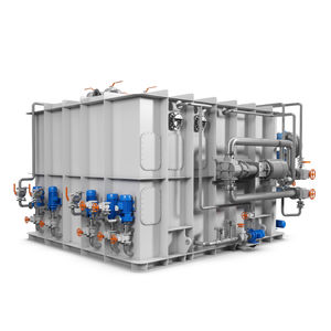sistema de tratamento de águas pretas / para navio / com separador / de membrana