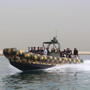 barco inflável com hidrojato / semirrígido / com hard-top / em alumínio