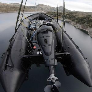barco profissional barco militar / com motor de popa / transportável / barco inflável dobrável