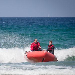 barco profissional barco salva-vidas / com motor de popa / barco inflável