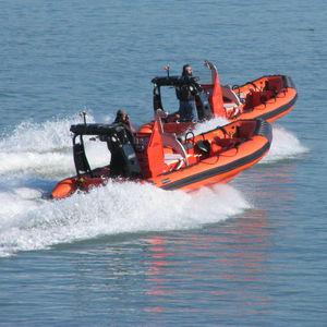 barco profissional barco de busca e salvamento / com motor de centro / barco inflável semirrígido