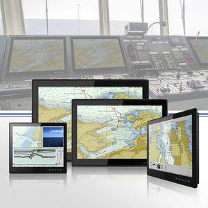 monitor náutico / multifuncional / sistema de navegação / de controle