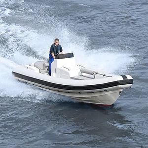 barco profissional barco salva-vidas / com motor de centro / a diesel / barco inflável semirrígido