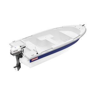 bote com motor de popa / open / em fibra de vidro / máx. 4 pessoas