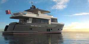 iate a motor de cruzeiro / trawler / clássico / com flybridge