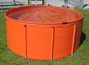 tanque de hidrocarbonetos / de armazenamento temporário / com moldura / portátil