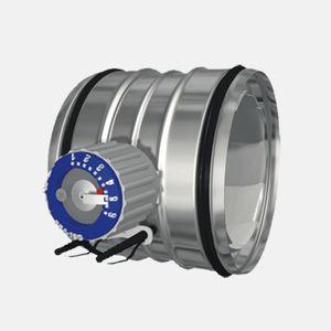 damper controlador de vazão de ar de regulação / de medição / para navio
