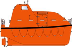 bote salva-vidas fechado