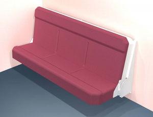 sofá-cama para navio / de 3 lugares / de parede
