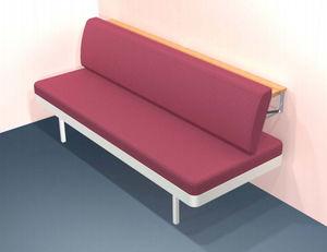 sofá-cama para navio / de 3 lugares / com encosto