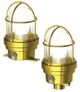 luminária para ambiente externo / para ambiente interno / de emergência / para navio