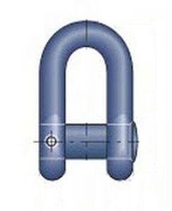 manilha para navio reta / de união para corrente de âncora / forjada / em aço inoxidável