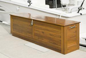 caixa organizadora para convés / para iate / em madeira