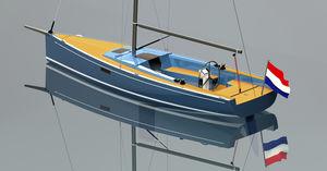 veleiro daysailer / em fibra de vidro / 4 camas / com propulsão elétrica