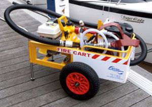 carrinho de combate a incêndio / para píer