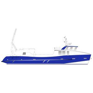 barco profissional barco de trabalho / barco utilitário / barco de serviço / com motor de centro