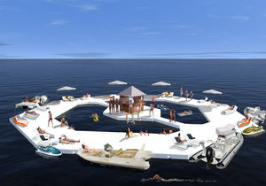 ilha flutuante artificial