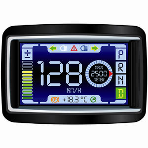 display para barco / multifuncional / LCD / digital