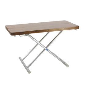 mesa de apoio para barco / ajustável / em teca