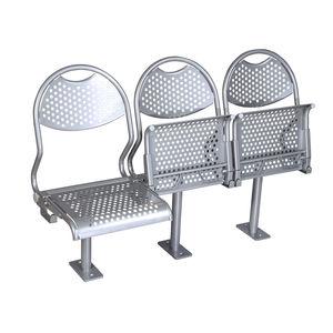 assento para navio de passageiros / rebatível / em aço inoxidável