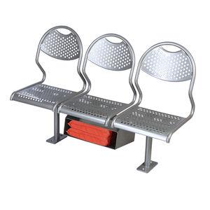 assento para navio de passageiros / de 3 lugares / em aço inoxidável