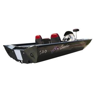 bass boat com motor de popa / em alumínio / máx. 5 pessoas