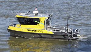barco profissional barco para levantamentos hidrográficos / com motor de popa / transportável