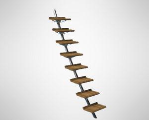 escada para barco / fixa / para flybridge / manual