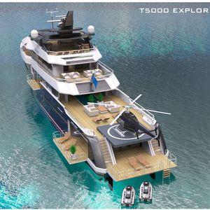 mega-iate de cruzeiro / trawler / com casa do leme