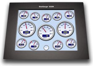 display para navio / multifuncional / LCD / com tela sensível ao toque
