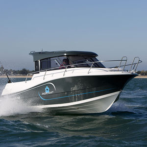 lancha Cabin Cruiser com motor de popa / com casa do leme / de pesca / máx. 8 pessoas