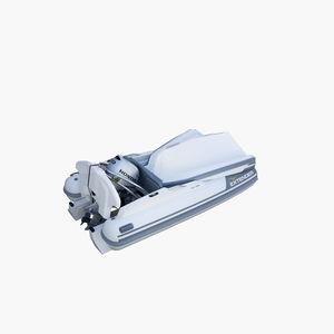 barco inflável com motor de popa / semirrígido / dobrável / com console lateral