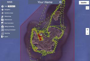 sistema de controle para navio / para iate / para estaleiro naval / para marina