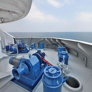 molinete elétrico / hidráulico / para navio / horizontal