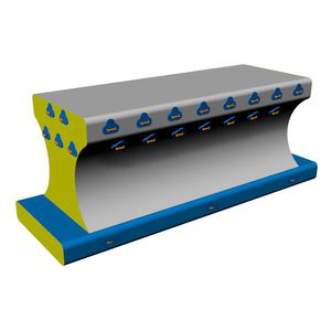equipamento de diversão aquática palanque