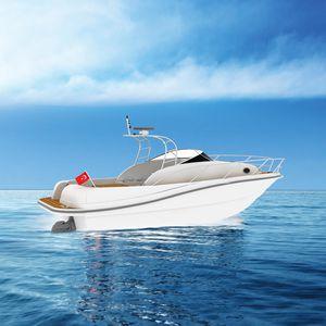 lancha Cabin Cruiser com motor de centro / open / esportiva / em fibra de vidro