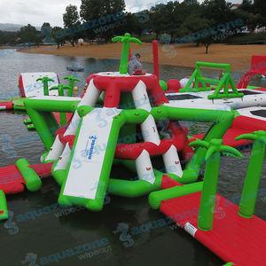equipamento de diversão aquática escorregador / parede de escalada / de convés / ilha