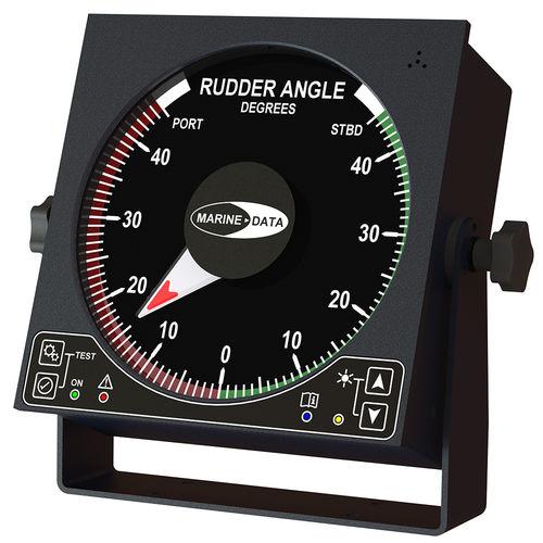 indicador para barco / para navio / de ângulo do leme / analógico